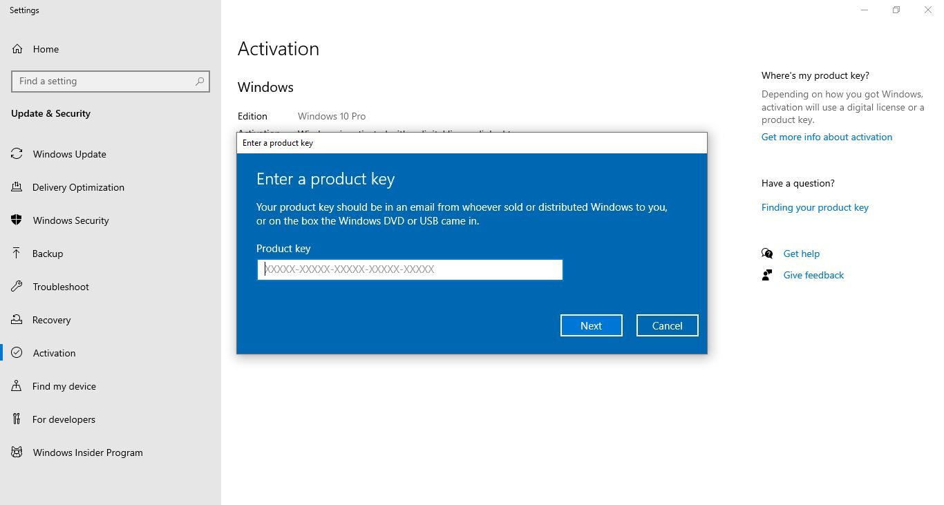 Microsoft Windows 10 Pro Product Key - Activation License ...